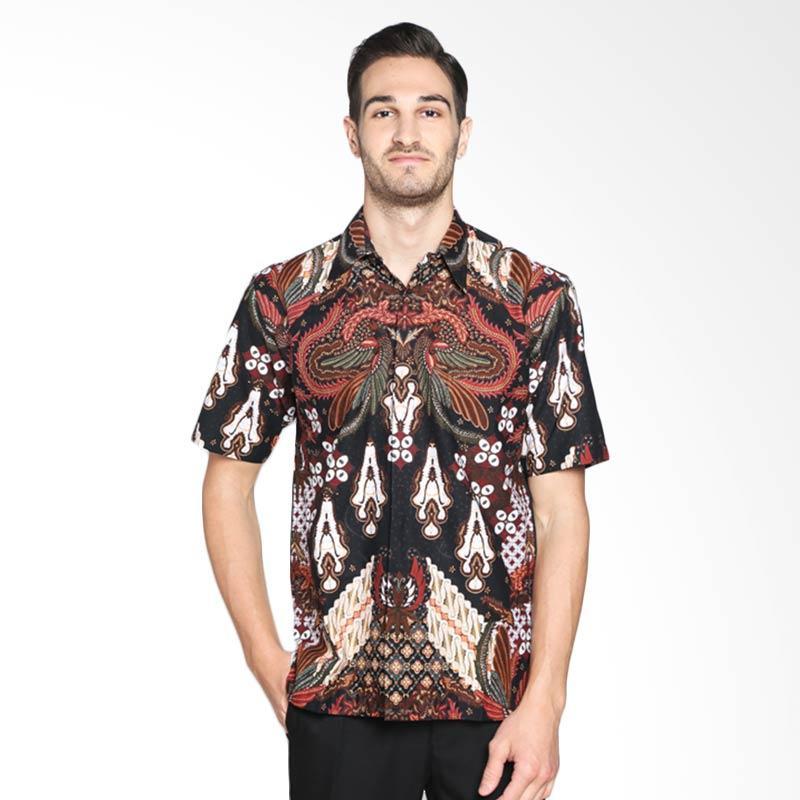 Batik Pria Tampan Adu Arep PKMPD-20091608P Kemeja Pria - Black