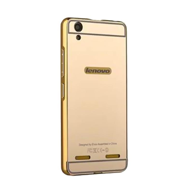 Bumper Mirror Sliding Casing for Lenovo K5 Plus - Gold