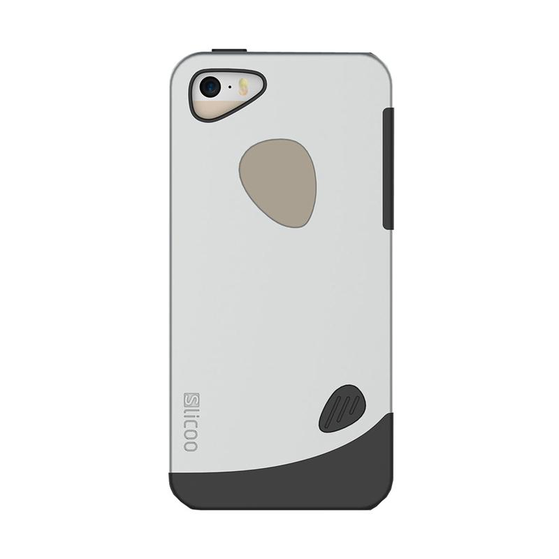 Slicoo Frosted Back Side Hardcase Casing for Apple Iphone 6 Plus - Silver