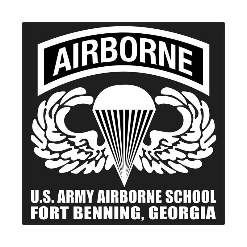 Kyle United States Army Airborne School Wing Cutting Sticker