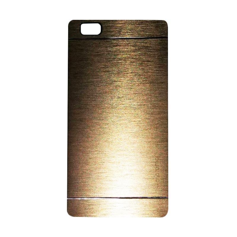 Motomo Metal Hardcase Backcase Casing for Huawei P8 Lite - Gold