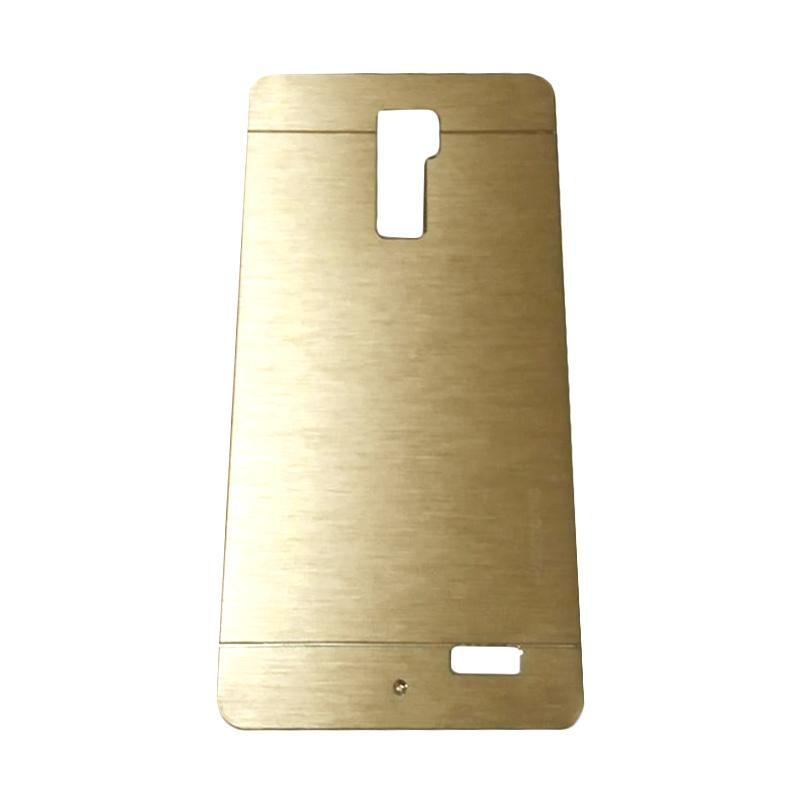 Motomo Metal Hardcase Backcase Casing for Oppo R7 Plus - Gold