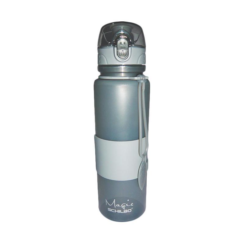 Noumuri Silicone Bottle Tutup Transparan Botol Minum - Abu Abu [650 mL]