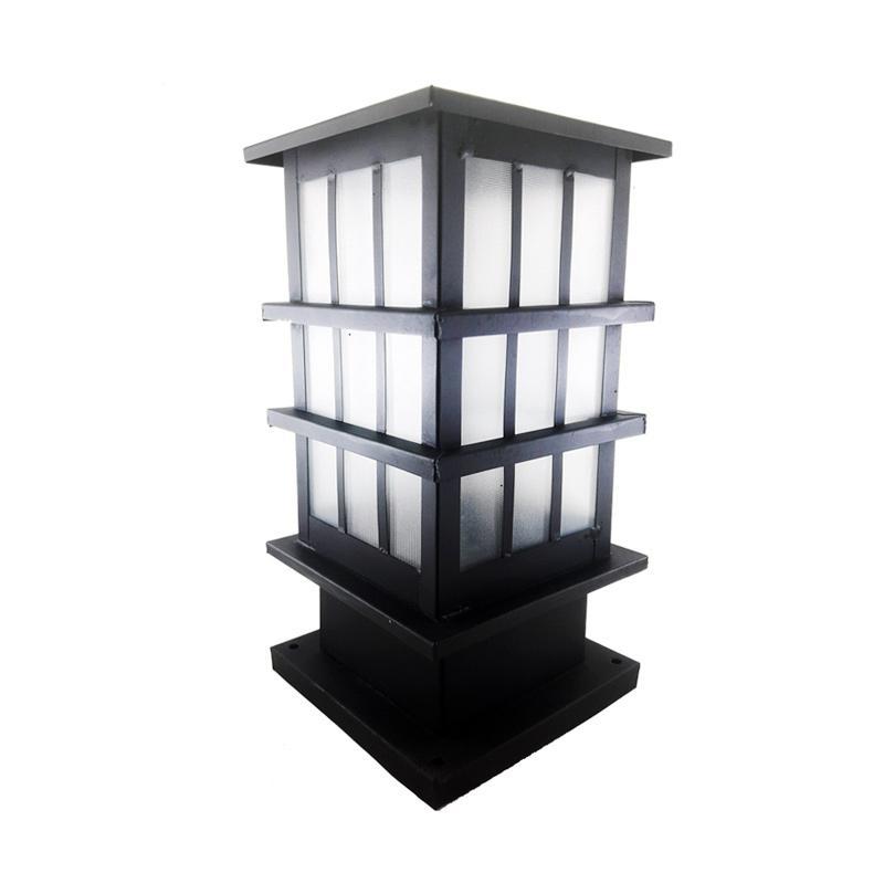 Best Lighting P12 BK Pilar Minimalis Lampu Taman - Hitam