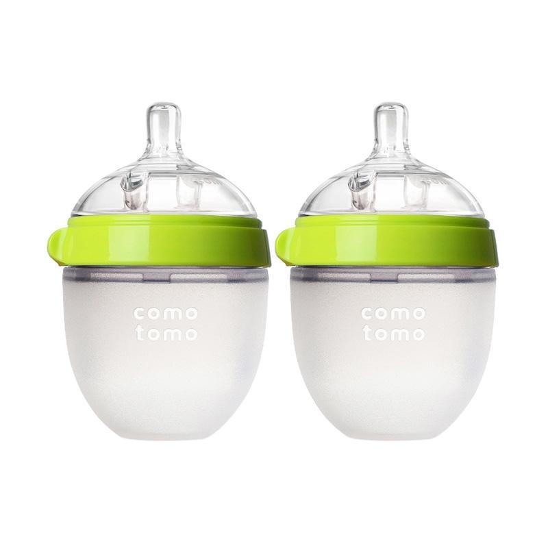 harga Comotomo Baby Bottle Twin Pack Green 150 ml Botol Susu Bayi Blibli.com