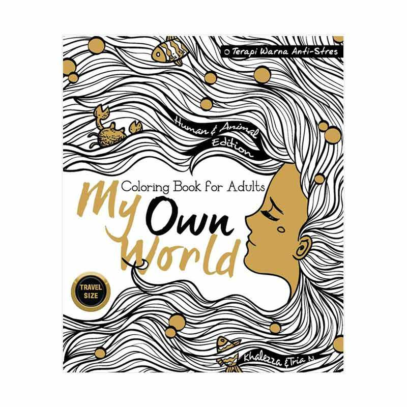 Jual Desain Buku My Own World Coloring Book For Adults Travel Size