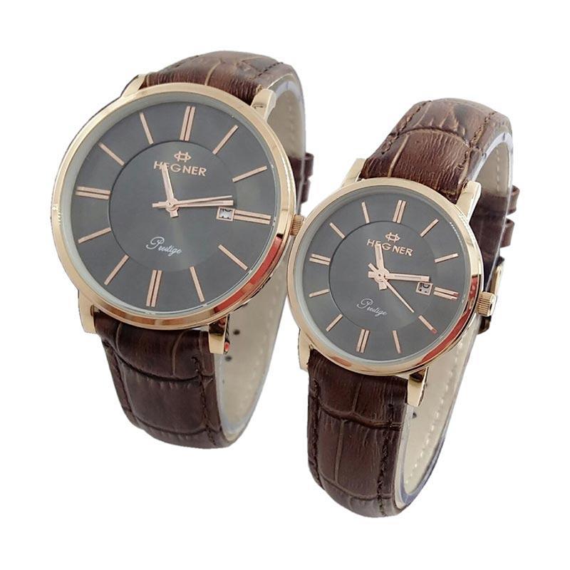 Hegner Prestige Edition D44H450HG403LMCKTRG Date Jam Tangan Couple