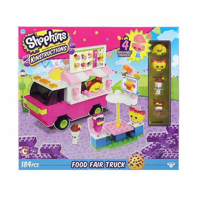 Shopkins Kinstructions Food Fair Truck Mainan Blok