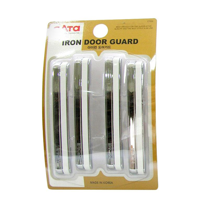 SIV CT269 Iron Door Guard Pelindung Pintu Mobil - White Chrome