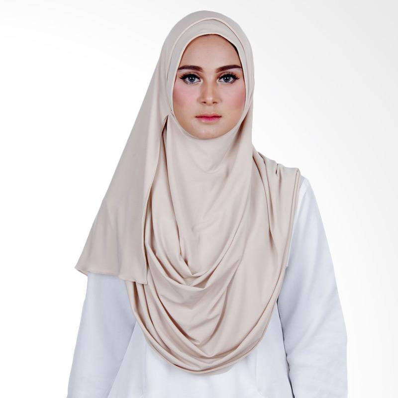 Cantik Kerudung Sheefa 2 Face Lycra Hijab Instan - Cream