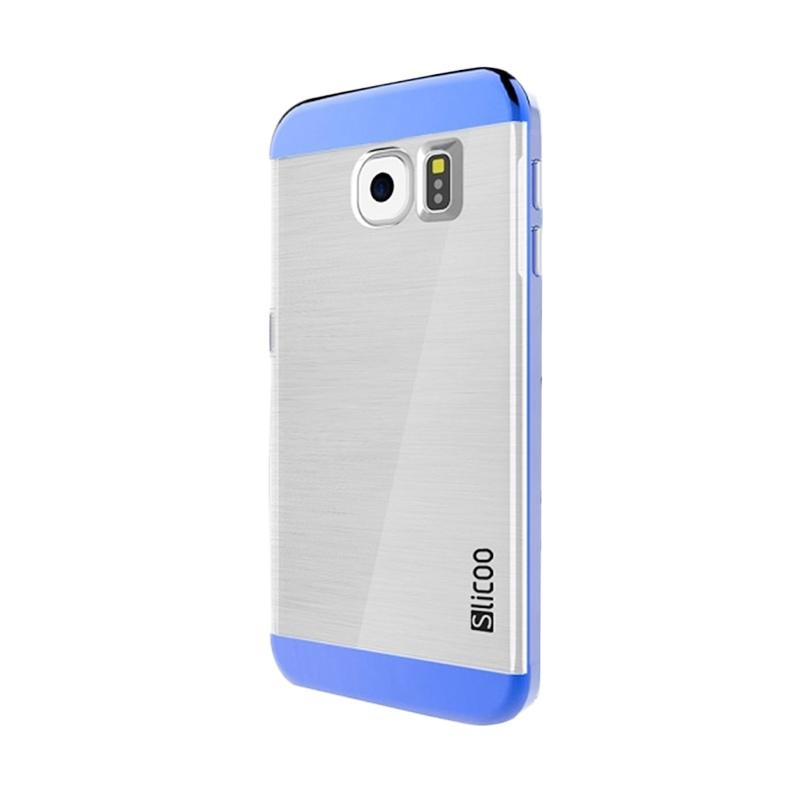 Slicoo Clear Back Side Cover Hardcase Casing for Samsung Galaxy S6 Edge - Blue