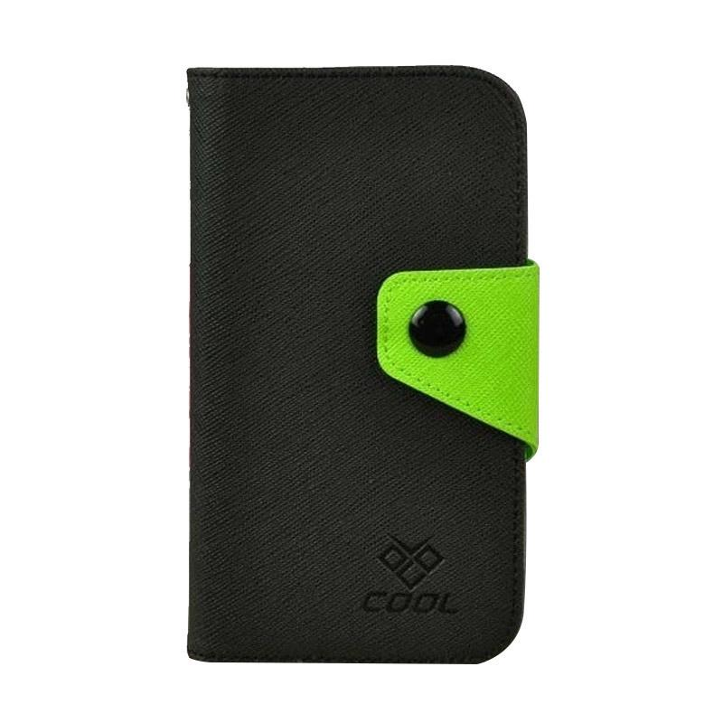OEM Rainbow Flip Cover Casing for Alcatel OneTouch Pixi 3 3.5 - Hitam