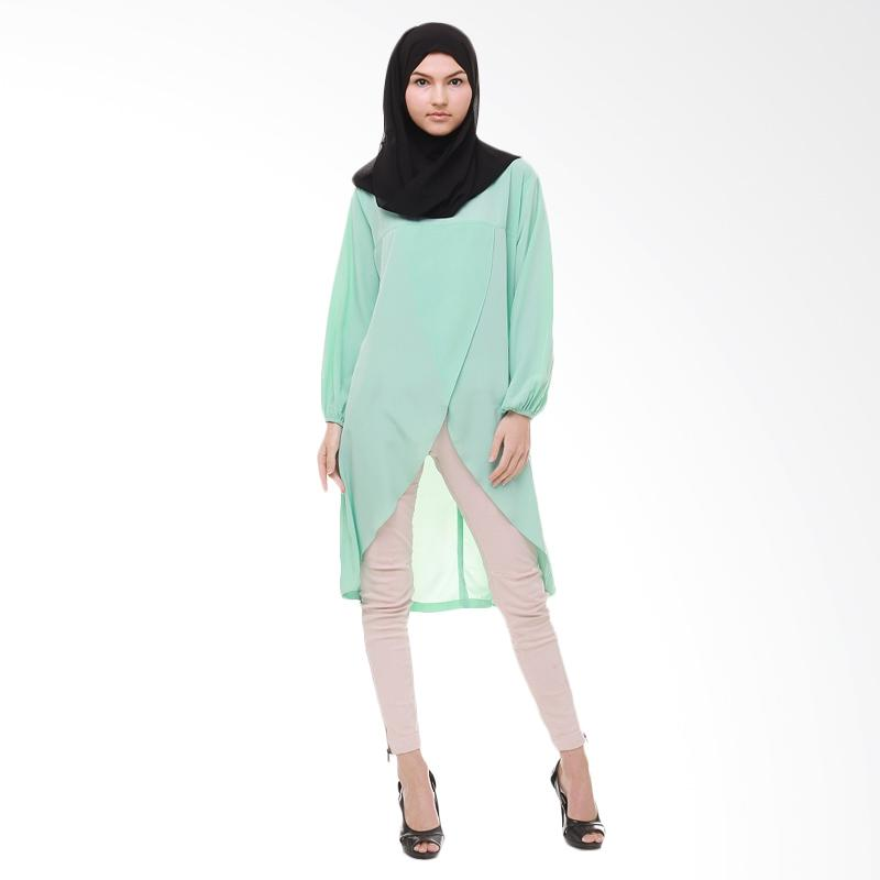 Xq Moslem Wear Kheisha Tunik Muslim - Green Mint
