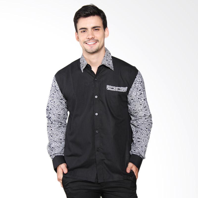 Djoemat Gembira K16-12-03 Batik Pria Ankara Long Sleeves - Black
