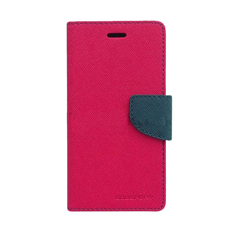 Mercury Fancy Diary Casing for SONY Xperia M5 E5603 - Magenta Biru Laut