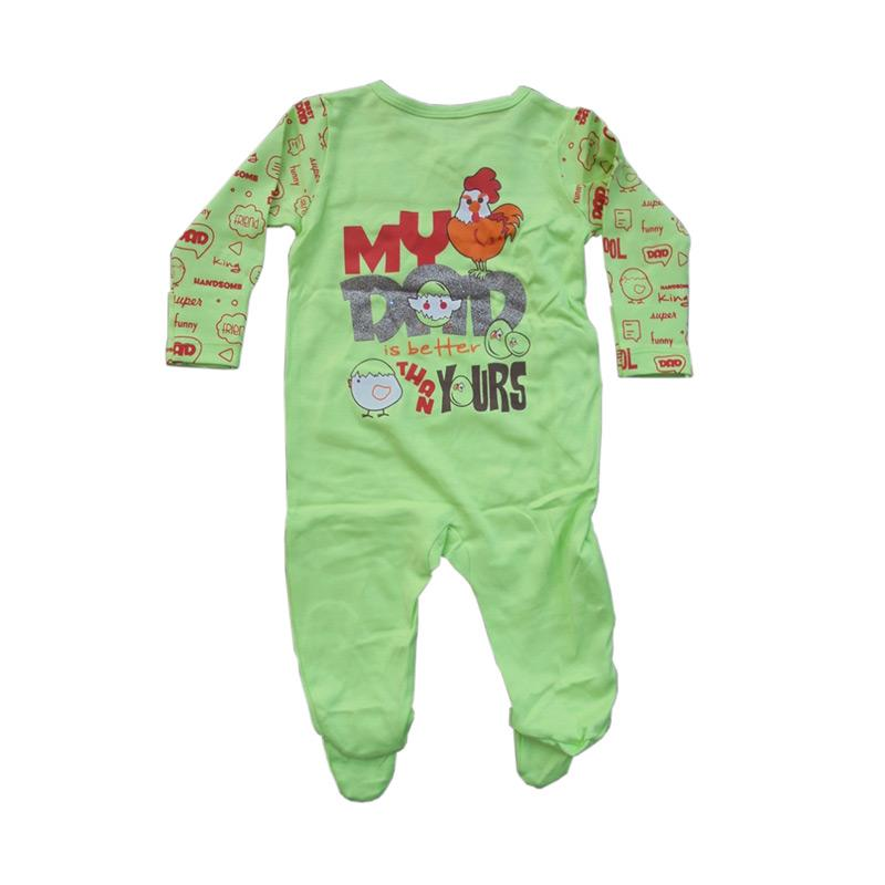 Piteku My Dad Jumpsuit Tutup Kaki Baju Tidur Anak - Green