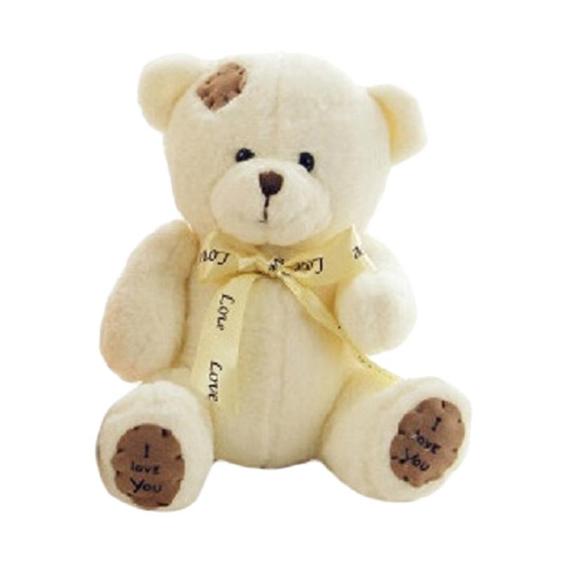 Spicegift Teddy Bear with Patch I Love You Boneka - Putih