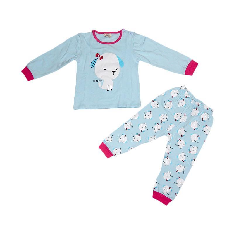 Wonderland Hug a Baby Pajamas Cute Dog Set Baju Tidur Anak