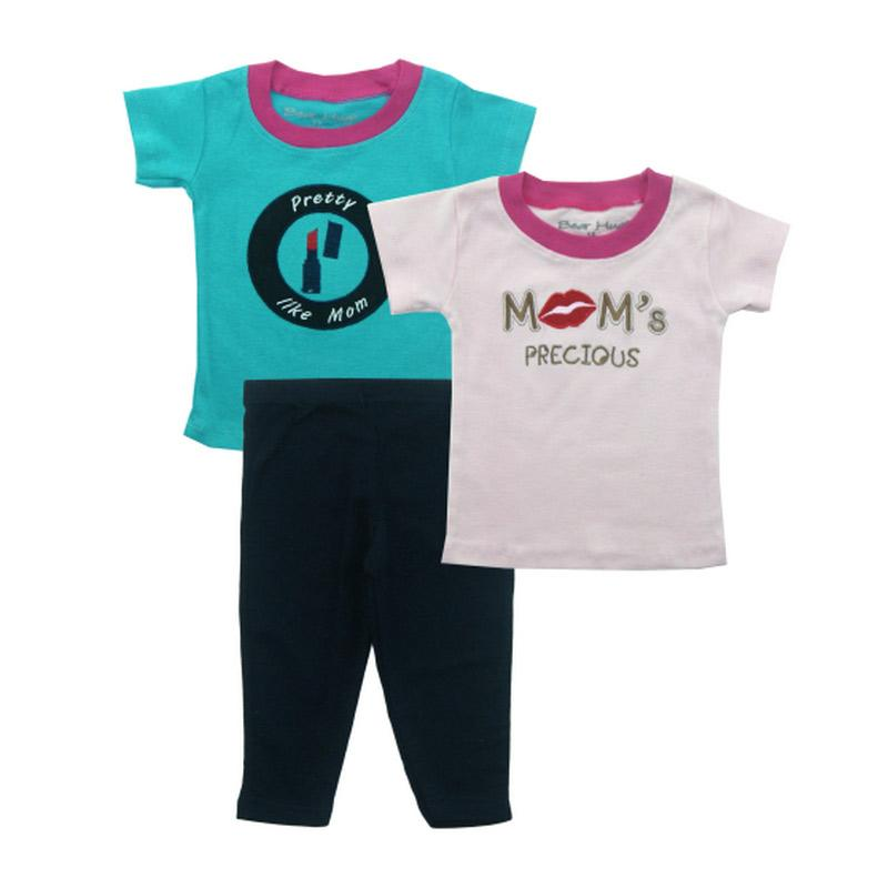 Bearhug 3 Pieces Pretty Like Mom Set Bayi Perempuan - Hijau [12-24 month]