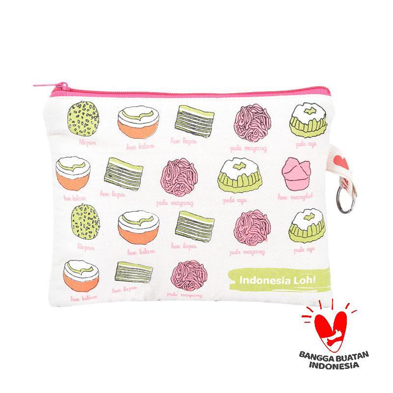 harga Indonesia Loh Jajanan Pasar Pouch - Off White Pink Blibli.com
