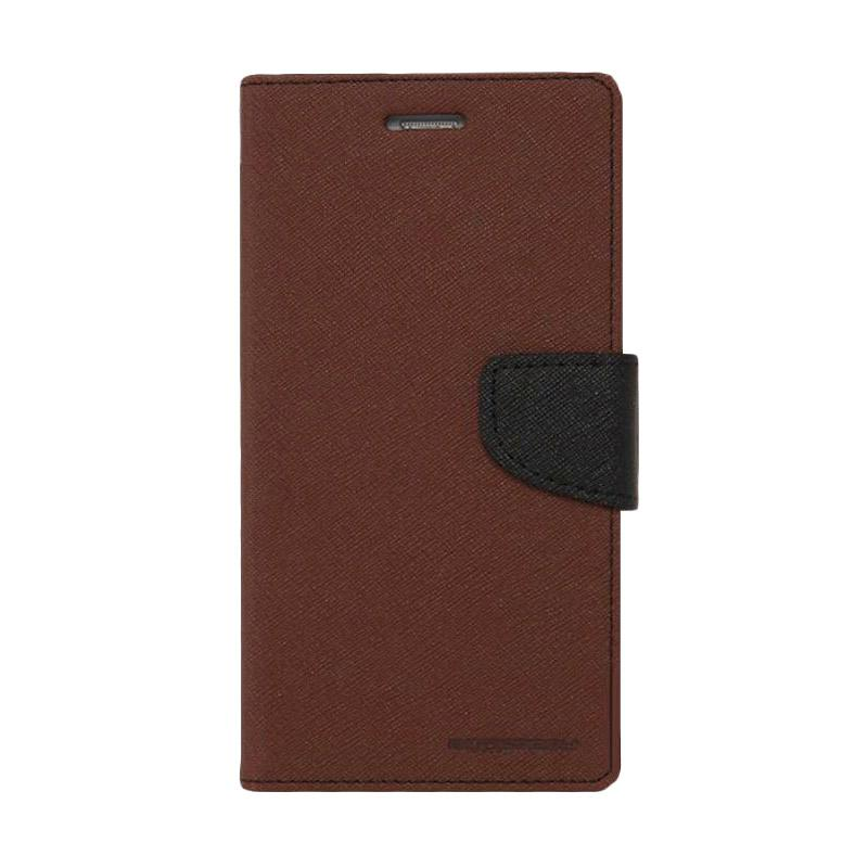 Mercury Fancy Diary Casing for iPhone 6 4.7 inch - Coklat Hitam