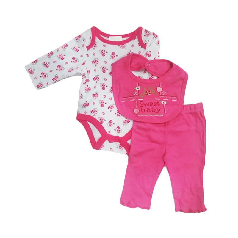 Chloebaby Shop F941 Carter's Sweet Baby Jumper 3in1 - Pink