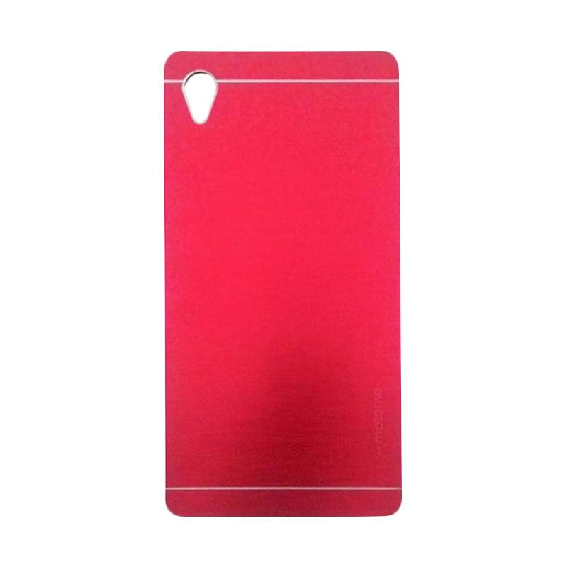 Motomo Metal Hardcase Backcase Casing for Sony Xperia M4 - Red