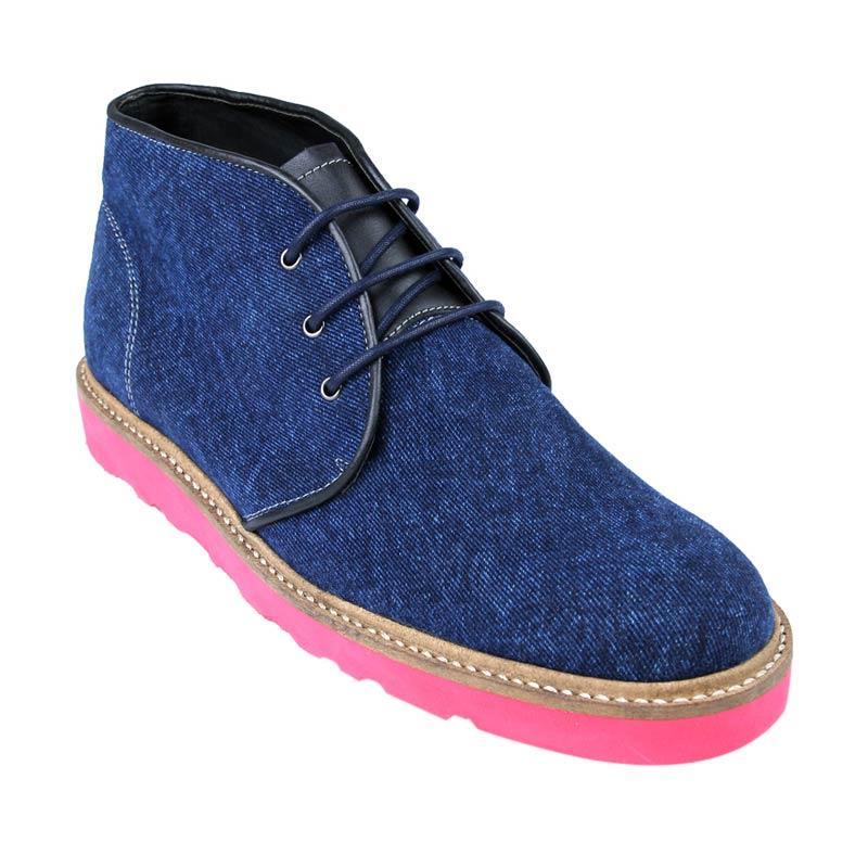 Ftale Footwear Solitaire Mens Shoes Sepatu Pria - Denim Blue