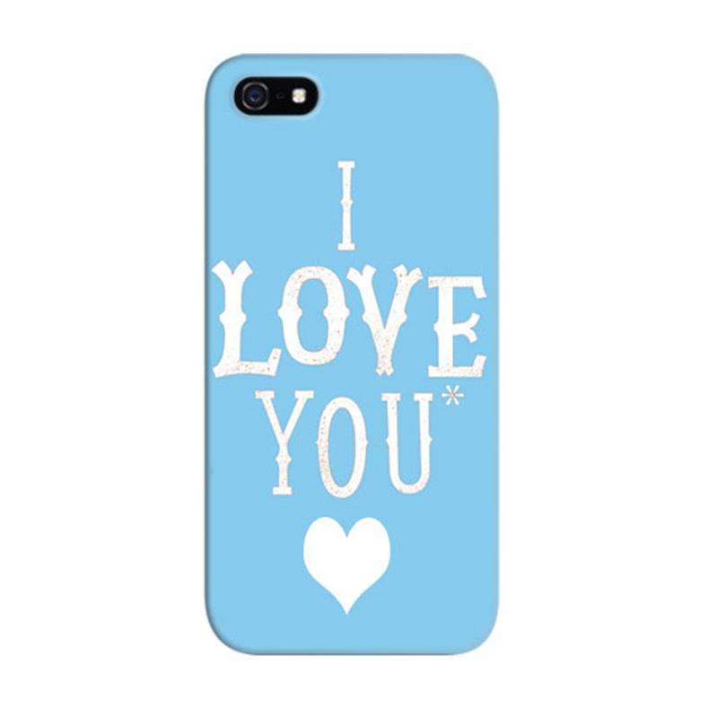 Indocustomcase I Love You Custom Hardcase Casing for Apple iPhone 5/5S/SE