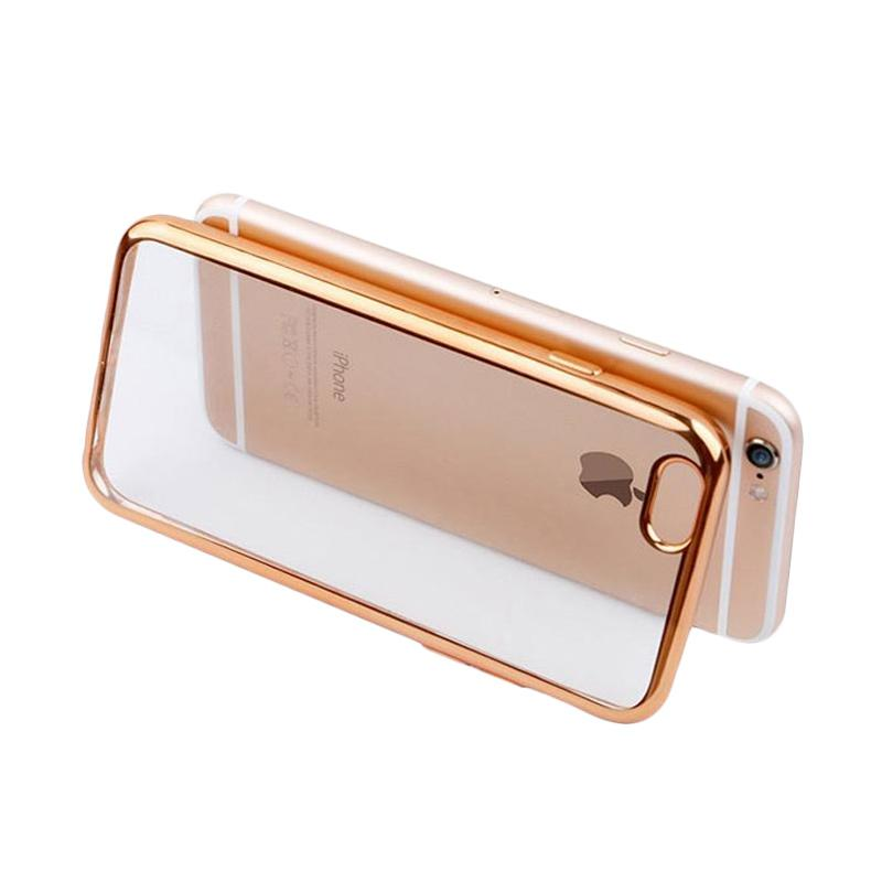 OEM Ultrathin TPU Shining Chrome Casing for iPhone 5 or 5S - Gold