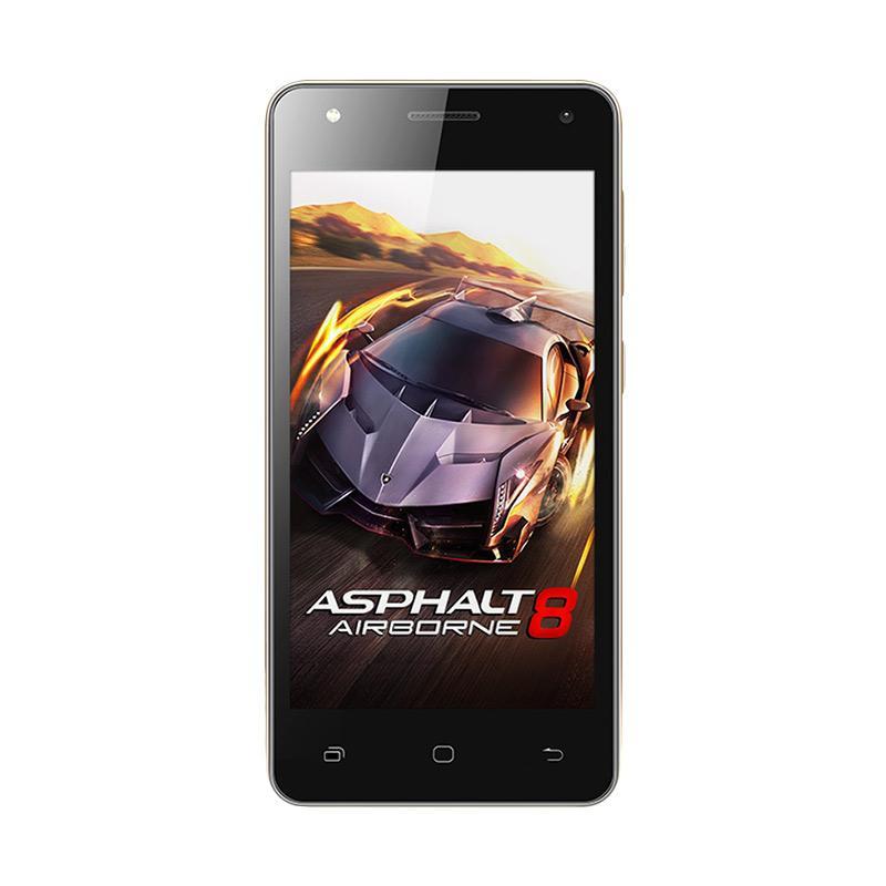 Smartfren Andromax E2 Plus Smartphone - Hitam Emas [16 GB/2GB]