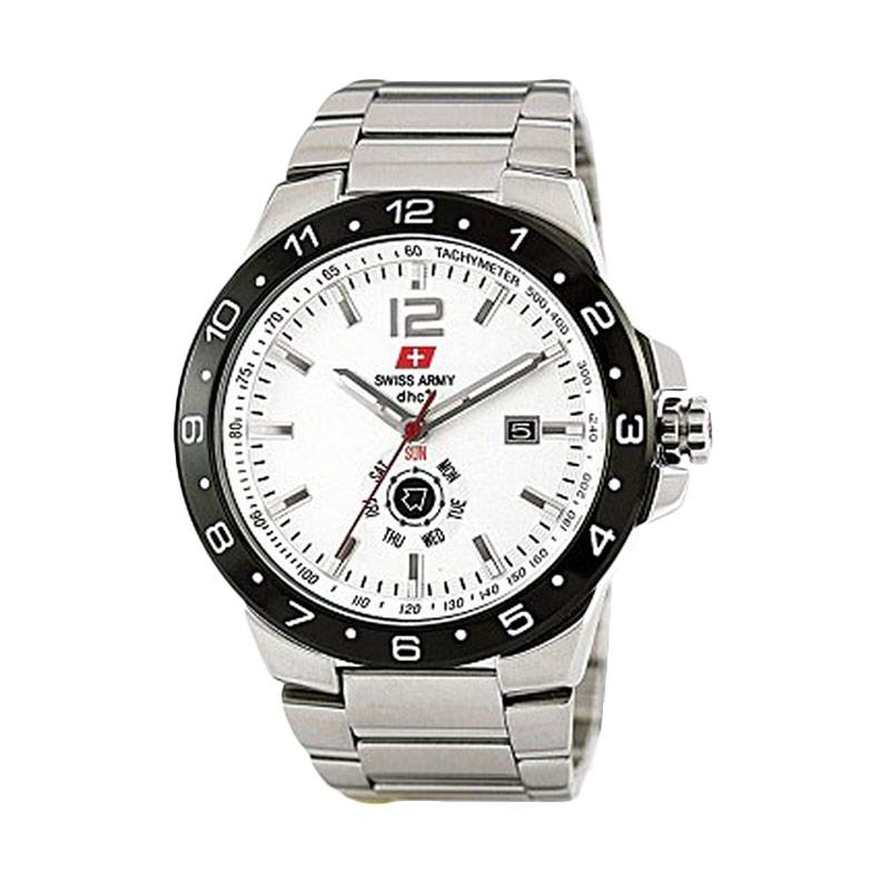Swiss Army SA2020 Jam Tangan Fashion Pria Silver - White