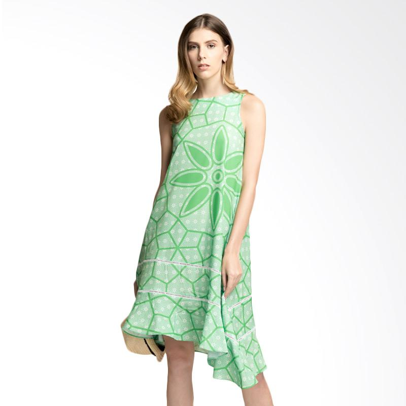 Bateeq WD.009 Sleeveless Overlay Dress with Truntum - Green