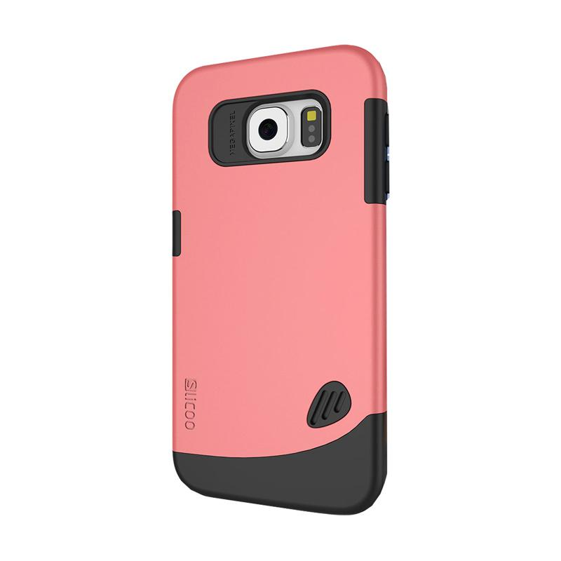 Slicoo Frosted Back Side Hardcase Casing for Samsung Galaxy S6 Flat - Pink