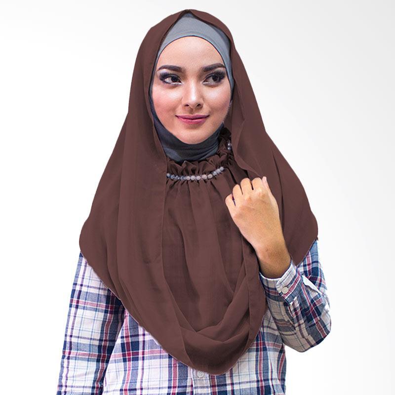 Milyarda Hijab kalung Putri Kerudung Instan - Coklat