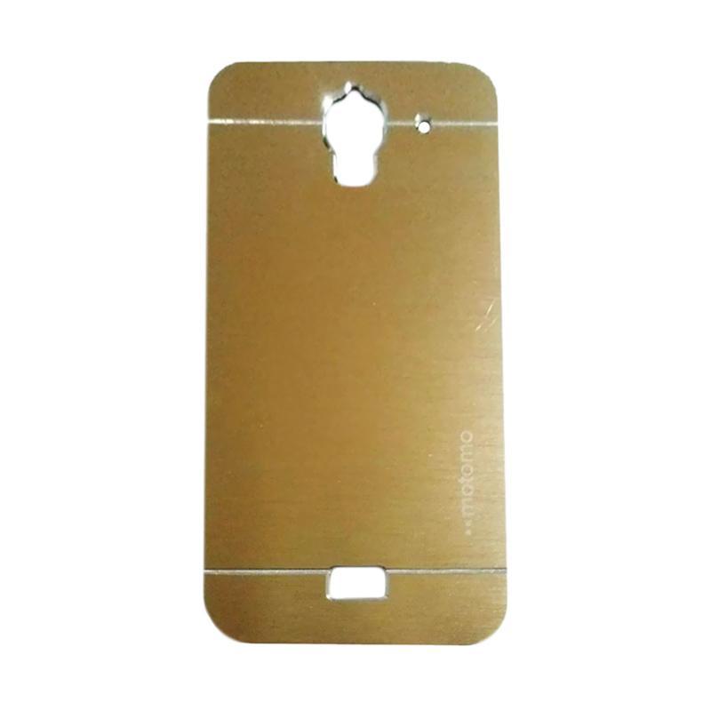 Motomo Metal Hardcase Backcase Casing for Huawei Y3 Batik - Gold