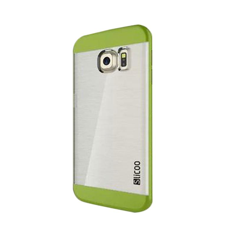 Slicoo Clear Flat Hardcase Casing for Samsung Galaxy S6 - Green