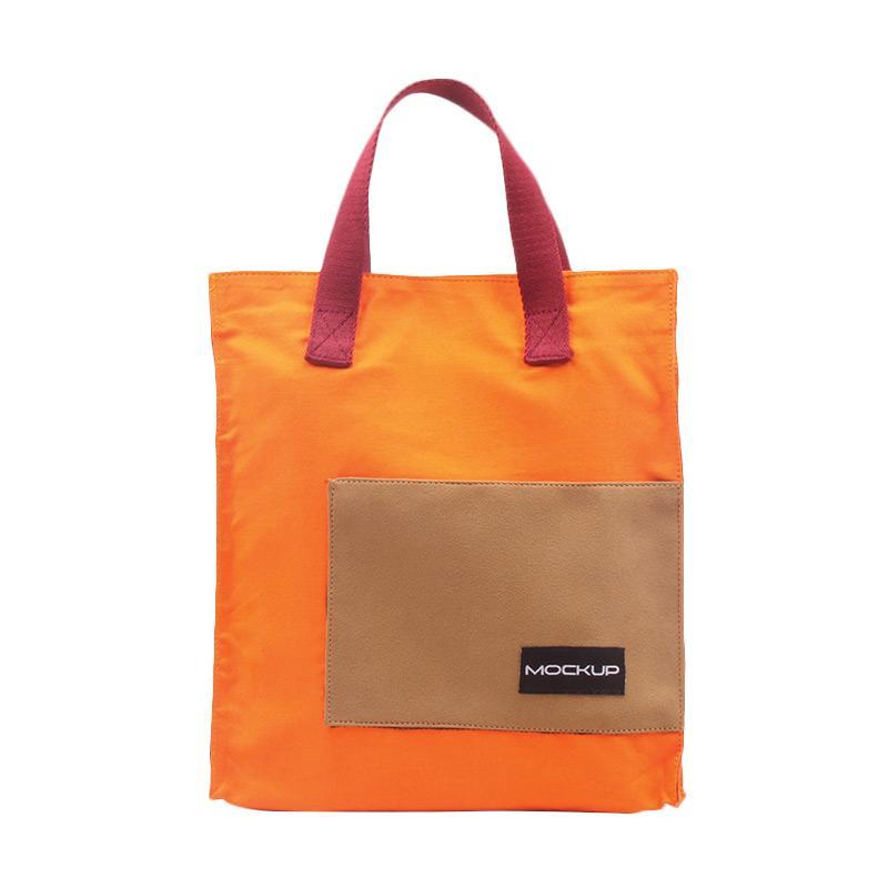 Mock Up Mini Tote Bag Mockup BGO/11 Tas Unisex - Orange Maroon
