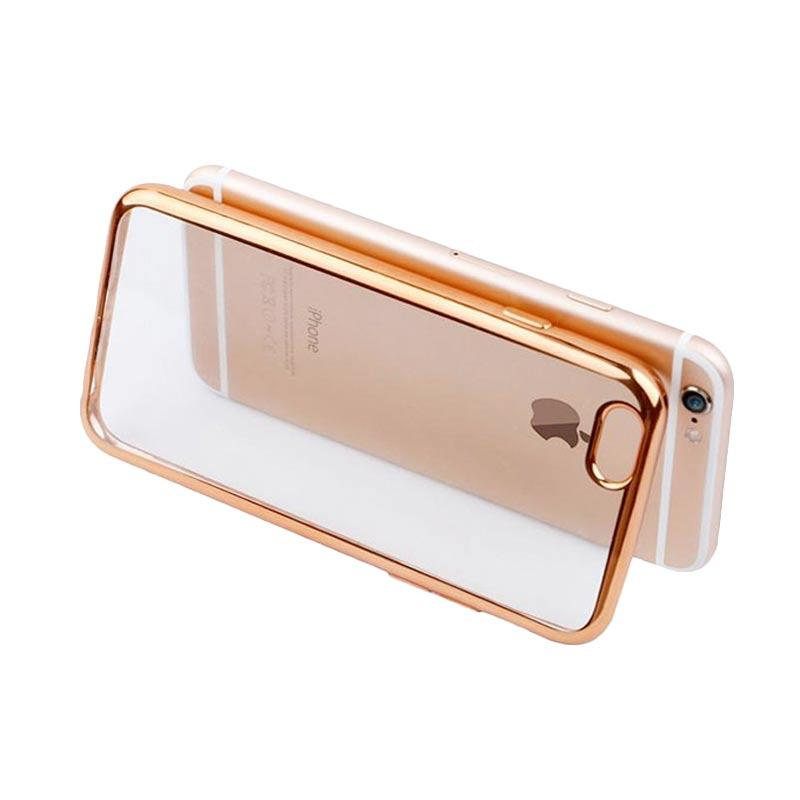 OEM Ultrathin TPU Shining Chrome Casing for iPhone 6 or 6S - Gold