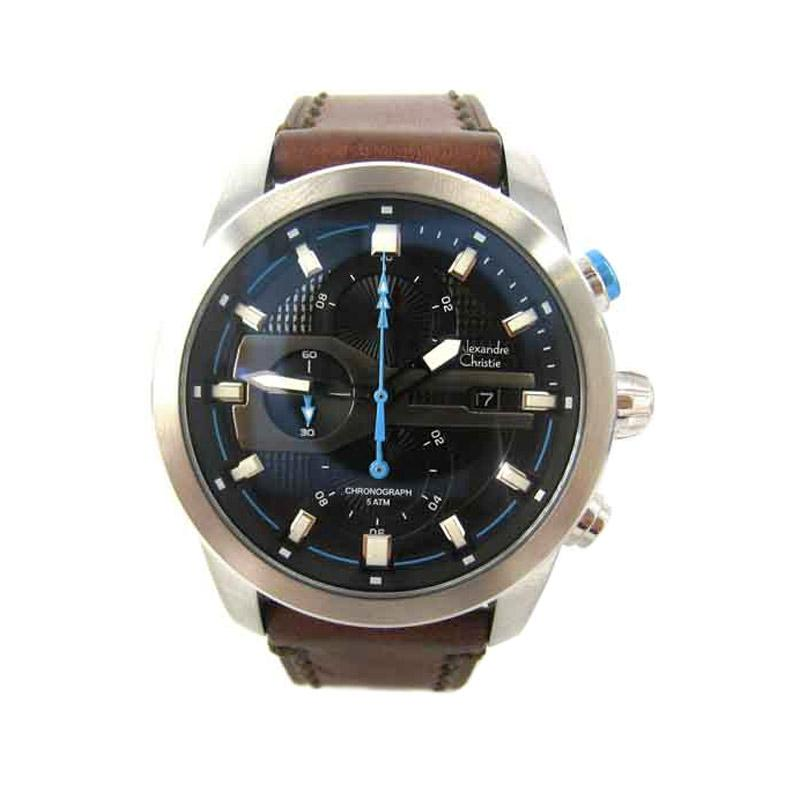Alexandre Christie 6270 Jam Tangan Pria - Silver Blue