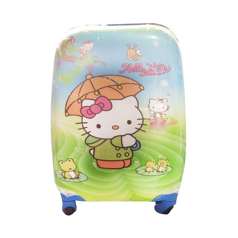 Hello Kitty Motiif Love Payung HK Koper - Green [16 Inch]