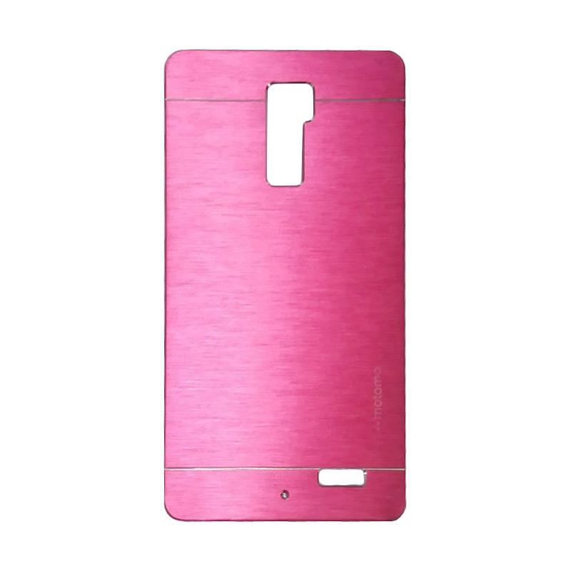 Motomo Metal Hardcase Backcase Casing for Oppo R7 Plus - Pink