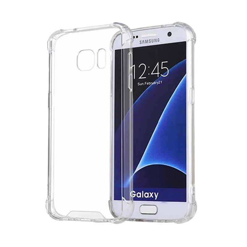 watch ee93d 70626 Case Anti Crack Anti Shock Softcase Casing for Samsung S6 Edge - Clear