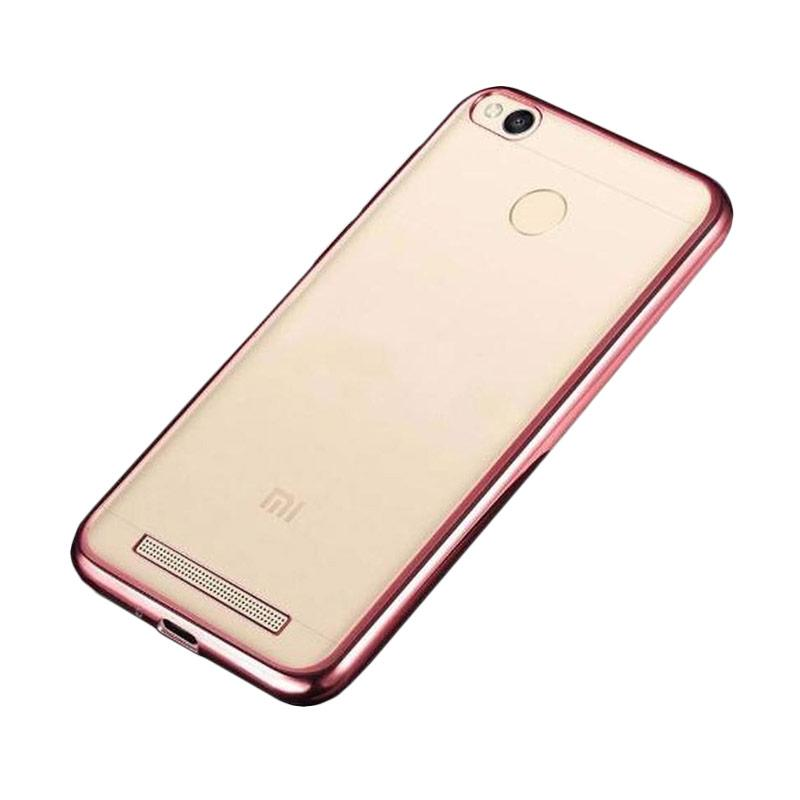 OEM Shining Chrome Softcase Casing for Xiaomi Redmi 3S - Rose Gold