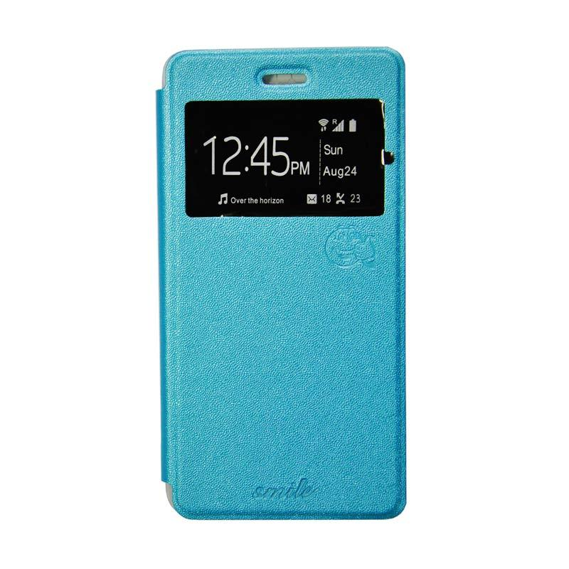 SMILE Standing Flip Cover Casing for Samsung Galaxy A5 2016 A510 - Blue