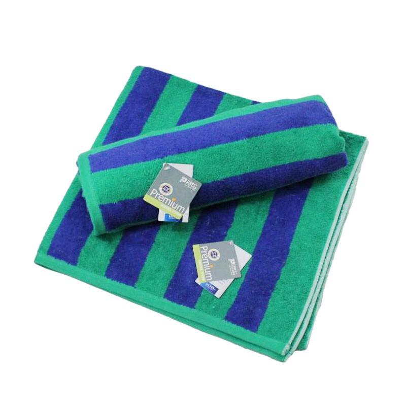 Terry Palmer Premium Handuk Mandi - Hijau Biru [85 x 160 cm]
