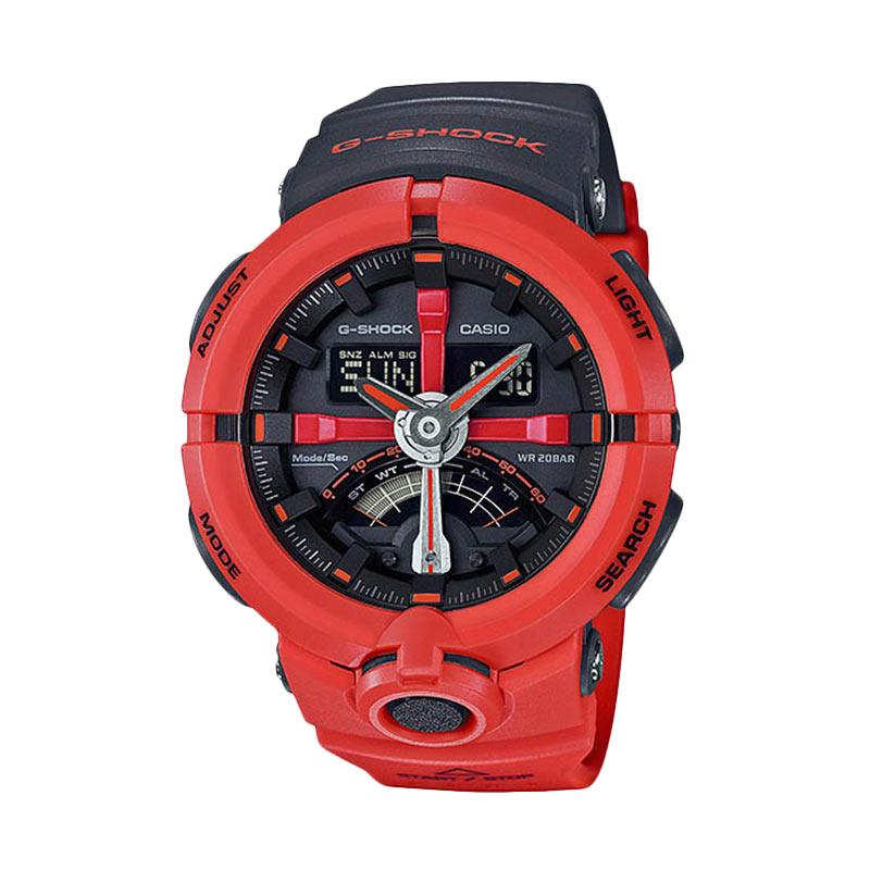 CASIO G-SHOCK GA-500P-4A Standard Analog-Digital Jam Tangan Pria - Red Black