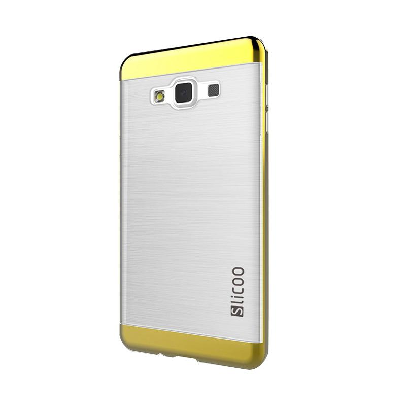 Slicoo Clear Side Cover Hardcase Casing for Samsung Galaxy A7 - Gold
