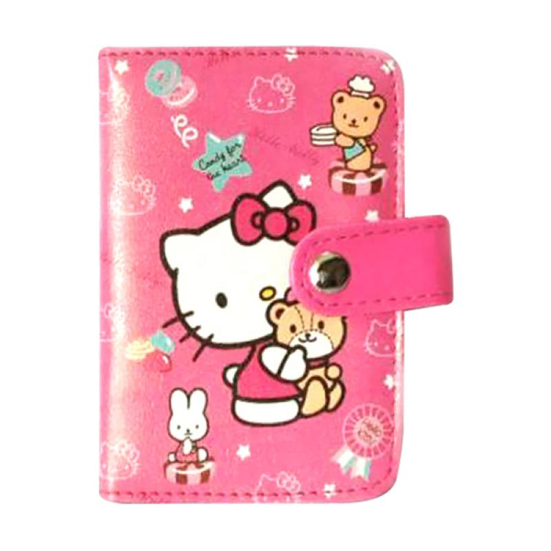 Hello Kitty HK Gendong Bear Dompet Kartu - Putih Pink