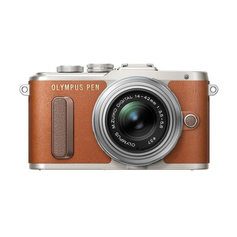 Olympus E-PL 8 KIT 14-42mm EZ Kamera Mirrorless - Coklat